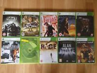 12 XBOX 360 GAMES BUNDLE NEW AND USED MOST ARE XBOX ONE BC