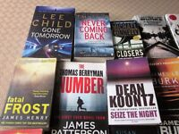 25 Books Job Lot some good authors Lee Child Micheal Connelly etc