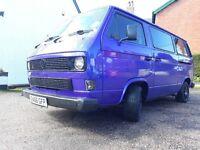 VW T25 Campervan, Electric Purple, 63,040 miles 1.9 conversion 'Dierdree'