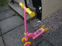 Pink Foldable metal scooter