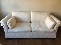 Marks and Spencer Double Sofa Bed in Cream Jaquard