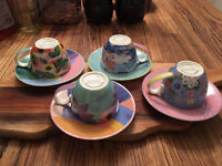 Beautiful espresso cups (from Oliver Bonas) - near new condition