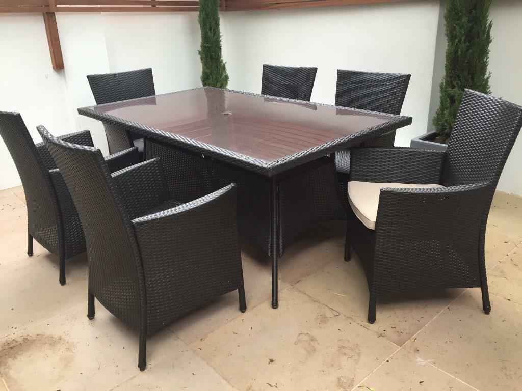 Homebase panama garden furniture set 6 seater as new and for Outdoor furniture 8 seater