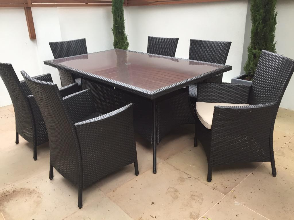 Homebase panama garden furniture set 6 seater as new and already assembled in clapham - Garden furniture table and chairs ...