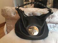 Mulberry black medium size Daria Hobo bag