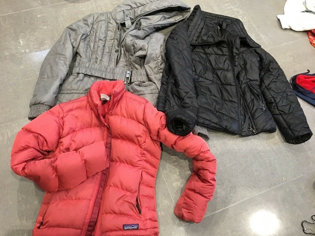 Gray guess size M, Patagonia salmon size Xs, Madden girl size M