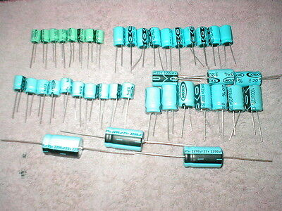 New Electrolytic Capacitor Kit 41 Pc 5 Value 220 330 470 1000 2200 Free Dom Sh