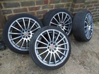 """ALLOY WHEELS AND TYRES - 17"""" Wheels (x4) 215X40X17 (fits many cars)"""