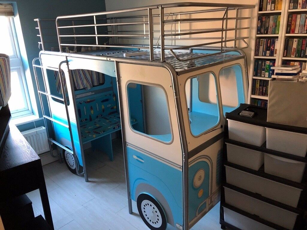 Astonishing High Sleeper Camper Van Devan Bed Blue With Desk And Chair Worlds Apart In Spalding Lincolnshire Gumtree Download Free Architecture Designs Grimeyleaguecom