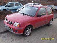 Cheap Nissan Micra..1.0cc..2001..Red..Full Mot