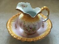 Antique pitcher and washbasin