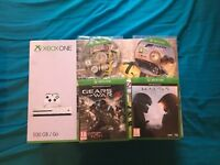 XBOX ONE S 500GB 4K HDR CONSOLE + 1 OFFICIAL CONTROLLER + 4 TOP GAMES + RECEIPT (LIKE NEW)