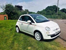 FIAT 500 1.4 LOUNGE, 1 Owner From New, MOT May 2019, Excellent Condition (white) 2010