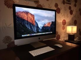 """27"""" iMac with 5K Retina Display and 2 TB Fusion Drive (Mint Condition, Late 2015 Model) - RRP £2249"""