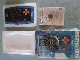 Vintage Matel electronic Sub Chase game console * Boxed with instuctions* very good condition