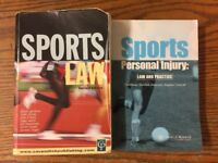 Law Books - Sports Law and Personal Injury