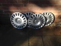 Set of Vauxhall wheel trims