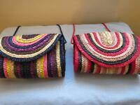 2 Rattan Handbags