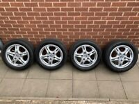 Porsche Boxster 986 16 inch alloy wheels with good tyres