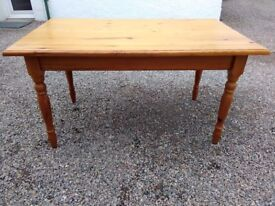 """solid pine dining table 55"""" x 33"""""""