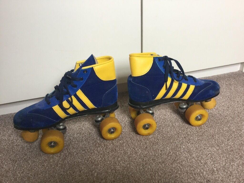 Roller skates kingston - Pair Of Vintage Retro Roller Boots Size 6