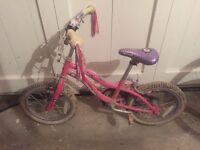 Girls bike 3y-6y
