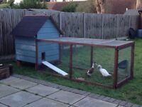 Blue Weather Boarded Pet House