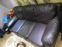 Leather sofa mint condition