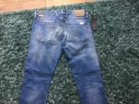 """New Men's Replay Anbass Slim Fit Denim Jeans 34""""W 34L"""