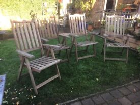 Solid teak garden chairs