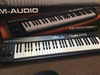 M-AUDIO KEYSTATION61 MIDI keyboard