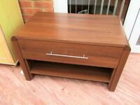 Argos Heart of Home Coffee Table with Shelf & Drawer dark wood effect VGC Sittingbourne, Kent