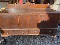 Oak 3 Door 2 Draw Dresser