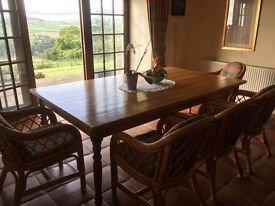 Captains Table + 8 Dining Chairs