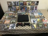 PS3 PlayStation 3 With 2 Controllers and 52 Games