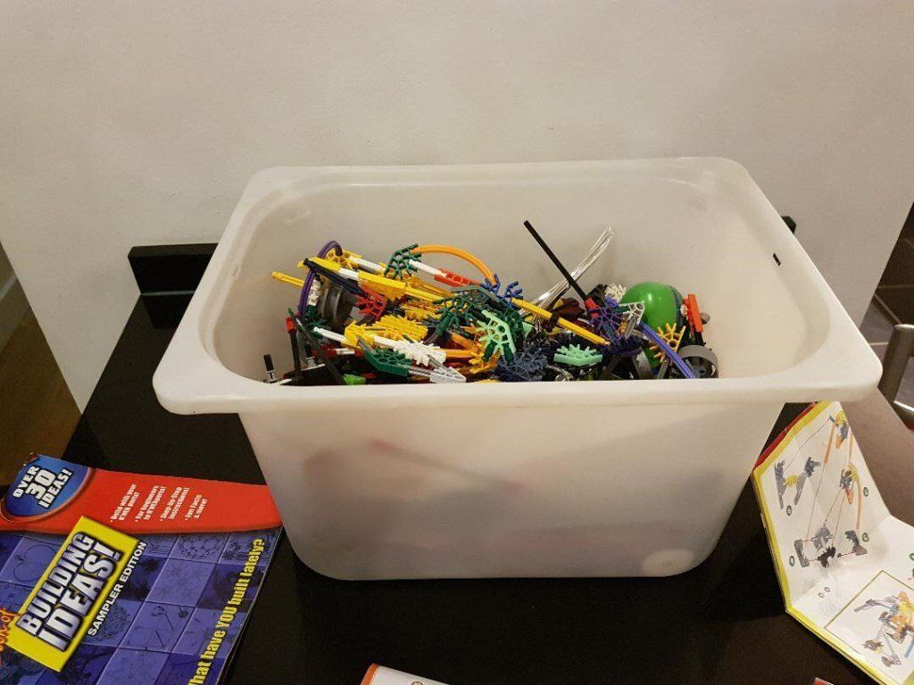 Large collection of K'NEX with instruction manuals