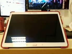 Samsung Galaxy Tab S w/ red flip cover case & 64GB SD card