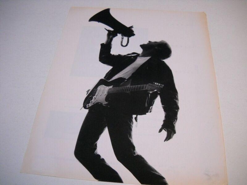 BRYAN ADAMS yells through megaphone...no print original 1991 Promo Poster Ad