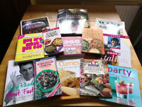 Bundle of 12 mixed cook books & 2 books on wine. £10