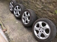 "Mercedes W210 E Class 17"" Alloy Wheels X4 (W208, W220) 235/45/17 Tyres"