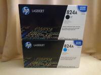2x HP laserjet 824a Black + Cyan