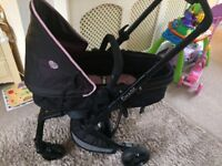 4 wheeler Travel system (black & purple)