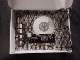 NEW 4 X USB 2.0 PCI CARD WITH CD DRIVERS (SURPLUS)