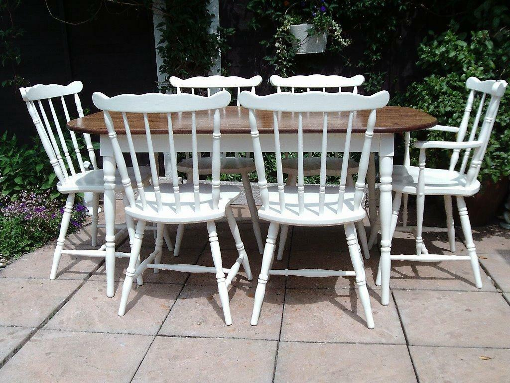 Dining Table and 6 Chairs Shabby Chic style in Leicester  : 86 from www.gumtree.com size 1024 x 768 jpeg 159kB