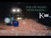 Snow clearing and removal sidewalks