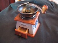 unused coffee grinder