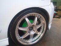 alloys Lenso s73 18inch wheels 4x100 fit mg honda mk2 golf civic e30bmw,mazda,peugeot,vauxhaul,mini