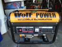 GENERATOR Wolf Power bought November 2017 Used once