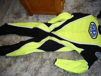 all in one xL MOTOR CYCLE SUIT WITH BUILT IN BODY ARMOUR