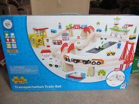 Bigjigs Transportation Train Set